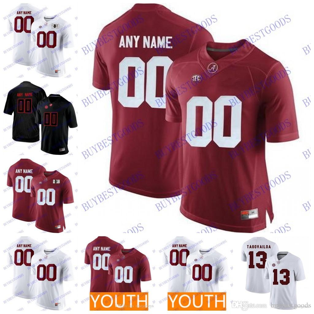 fdf29ae6f 2019 Custom Alabama Crimson Tide College Football Personalized Stitched Any  Name Number 13 Tua Tagovailoa Jerseys Men Youth S 3XL From Buybestgoods