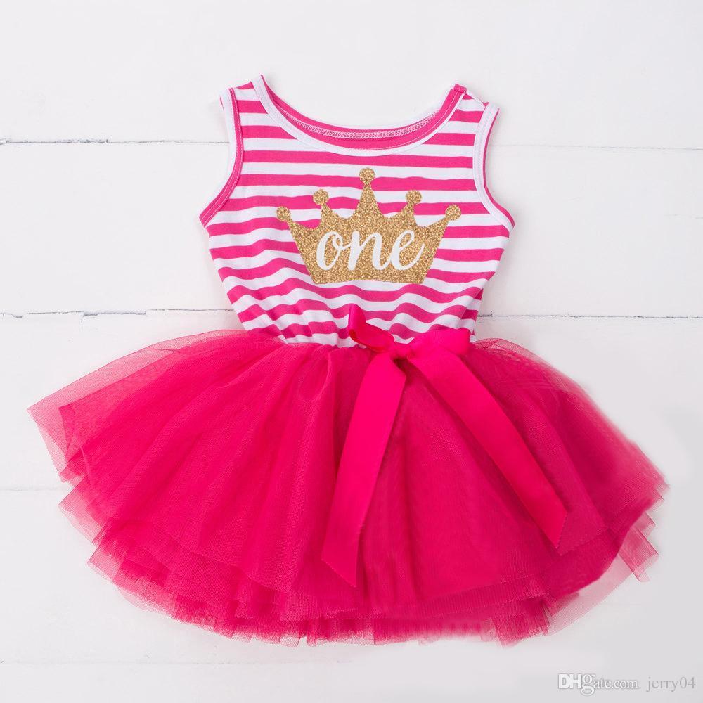 e4b7aac35 Compre Casual Baby Girl Princess 1 3 Años Tutú De Cumpleaños Vestido Para  Niñas Vestidos De Verano Summer Toddler Kids Vestidos Para Niñas Ropa A   4.0 Del ...