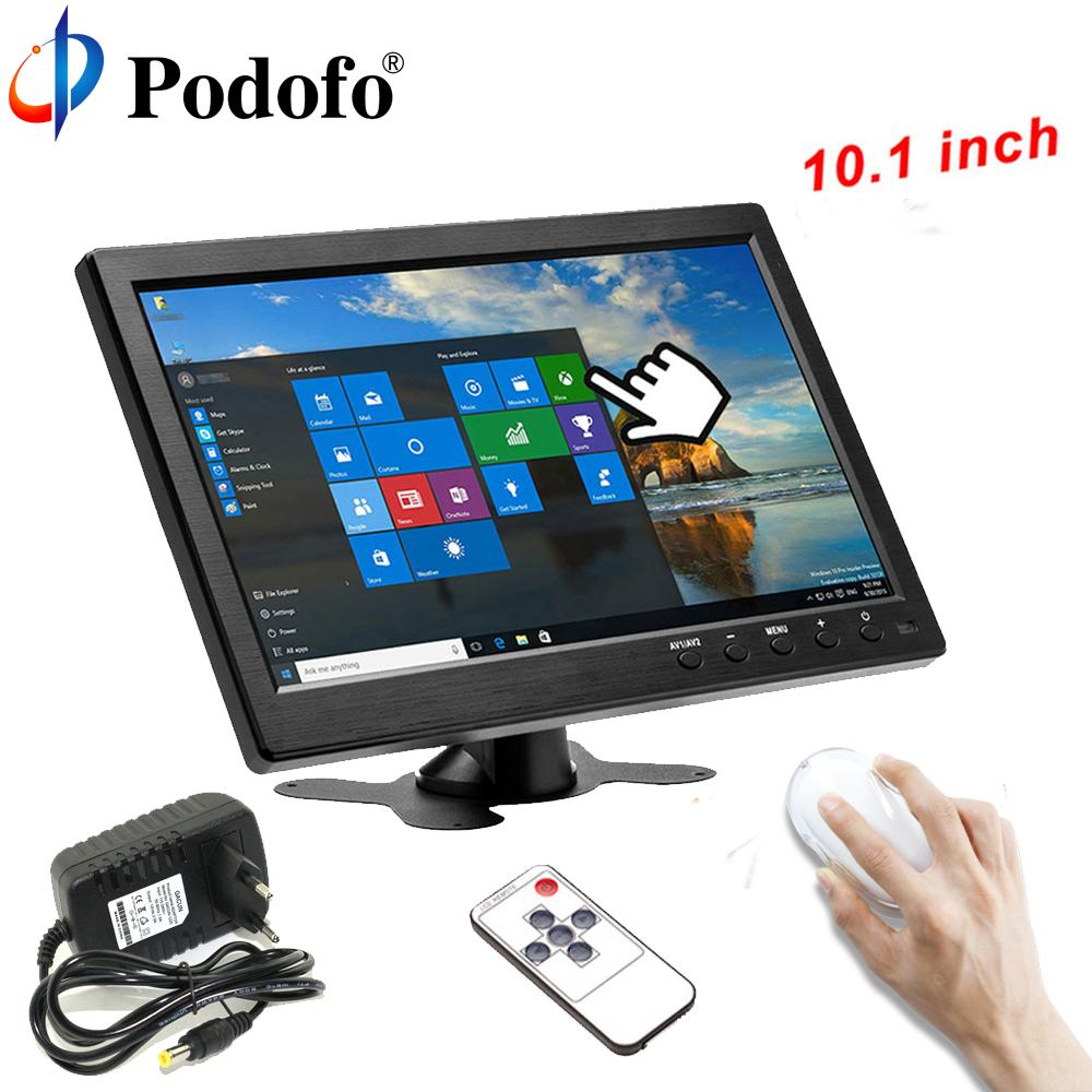 Podofo 101 Lcd Hd Monitor Mini Tv Computer Display Color Screen 2 Security Channel Video Input With Speaker Vga Hdmi Best Monitors Pc