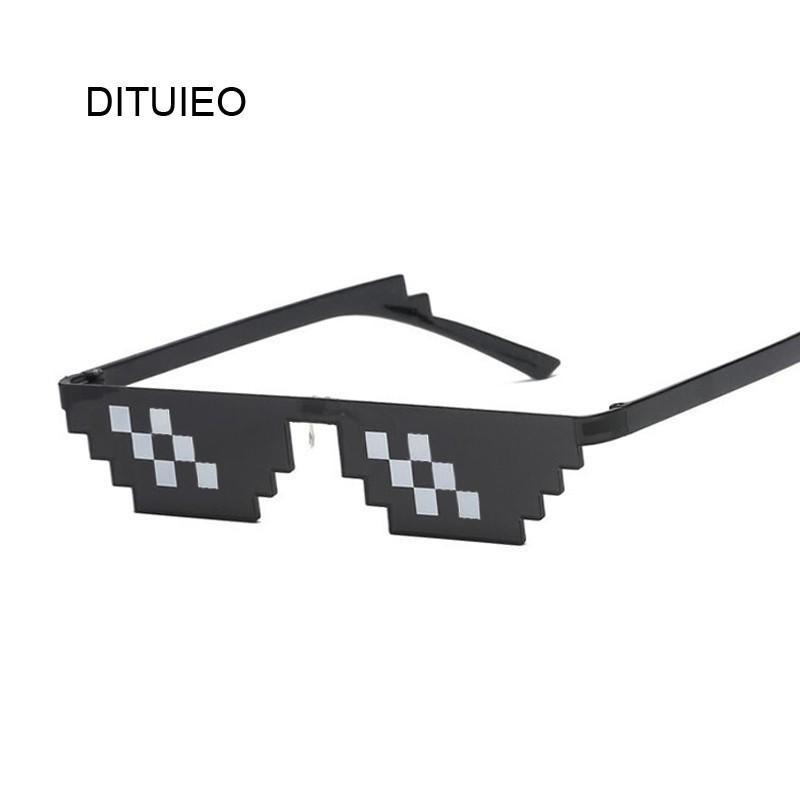 da1fe52b8a1 Glasses 8 Bit MLG Pixelated Sunglasses Men Women Brand Thug Life Party  Eyeglasses Mosaic Vintage Ladies Female Male Eyewear Victoria Beckham  Sunglasses ...