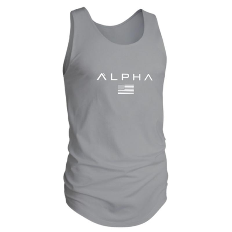 dd88079070ed 2019 Sleeveless Gym T Shirt Men Running Shirt Summer Vest Cotton Breathable  Mens Tank Top Gym Workout Fitness T Shirt Sport From Dinaha