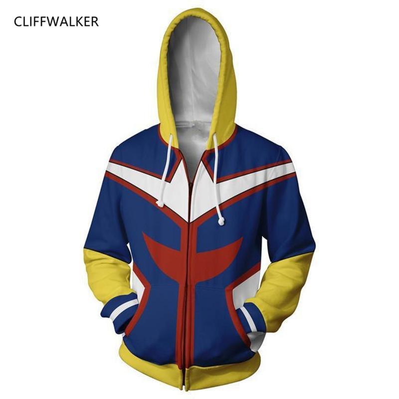 d5a40fa145 Dropshipping Sweatshirts My Hero Academy 3D Printing Zipper Hoodies For  Men's Women's Long Sleeve Hooded Pocket Pullovers Tops