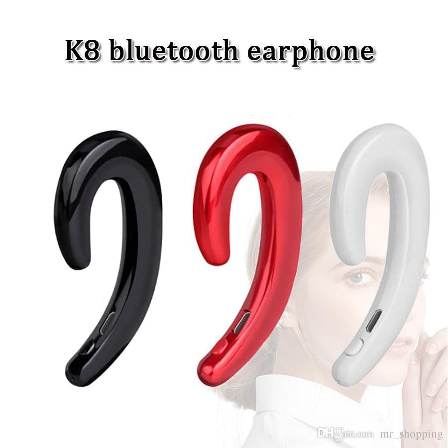 Bone Conduction Earphone K8 Stereo Bluetooth 4.0 Wireless Headphone ...