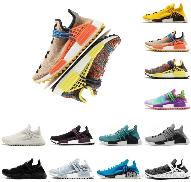 Adidas nmd human race Designer Human race Hommes femmes chaussures de course pharrell Williams BBC encre holi nobel Punk nude hommes formateurs Crème