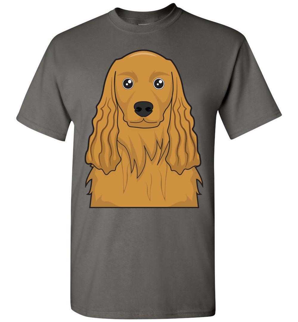 Acquista t shirt di cartone animato inglese cocker spaniel tee t