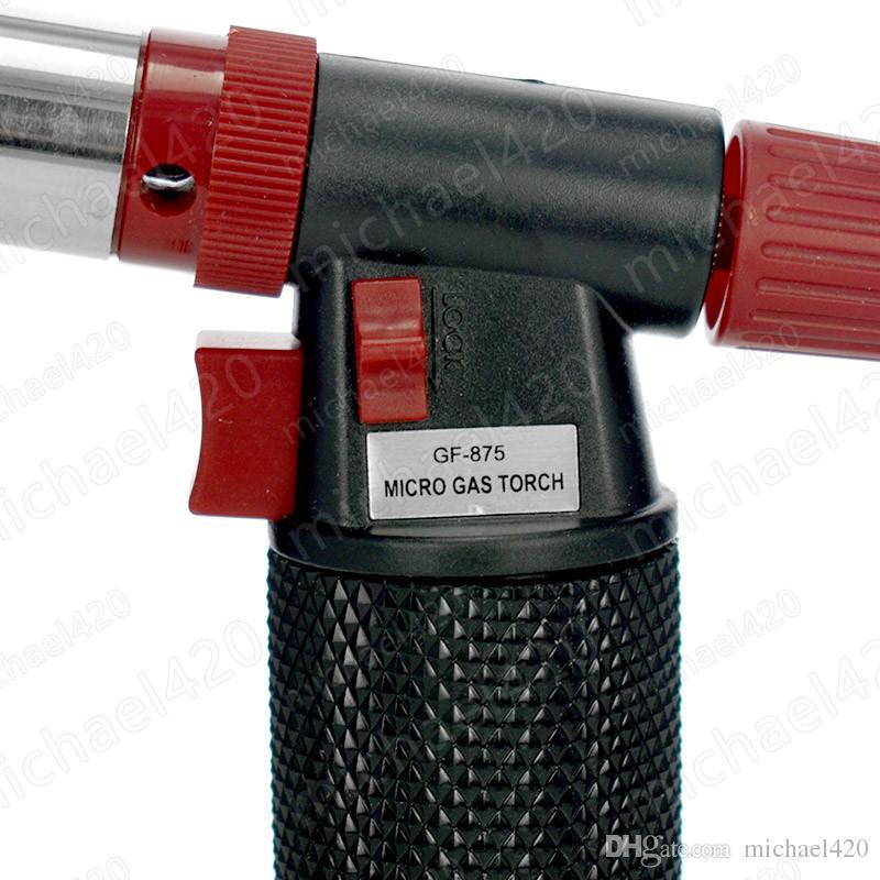 재충전 용 부탄 토치 용접 똑 바른 Windproof 라이터 Flamethrower 옥외 BBQ 야영 용접 독점적 인 여송연 라이터