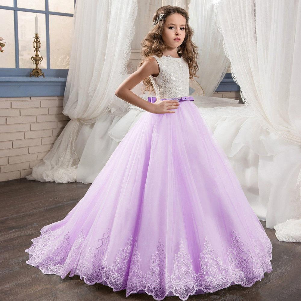 e5b2878a752e Pageant Cute Little Girl Princess Gown Lace Flower Girl Dress For Wedding  Tutu Floor Length Hand Made Kids Party Birthday Dress Girls Special Occasion  ...