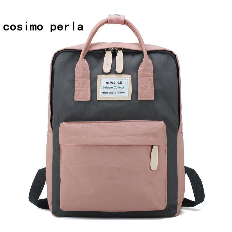 b8ab81821d76 Korean Style Backpack Women Canvas Waterproof Laptop Backpacks Tote Handle  Student School Bags For Teenage Girls Mocholas Best Backpacks Girls  Backpacks ...
