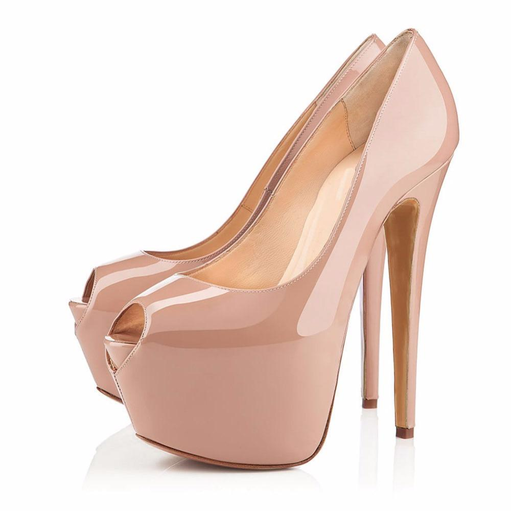 145241bd6f1 Wholesale Woman Black Nude Super High Platform High Heels Sexy Peep Toe  Night Club Wearing Pumps Lady Dress Heels Shoes For Women Cheap Shoes From  ...