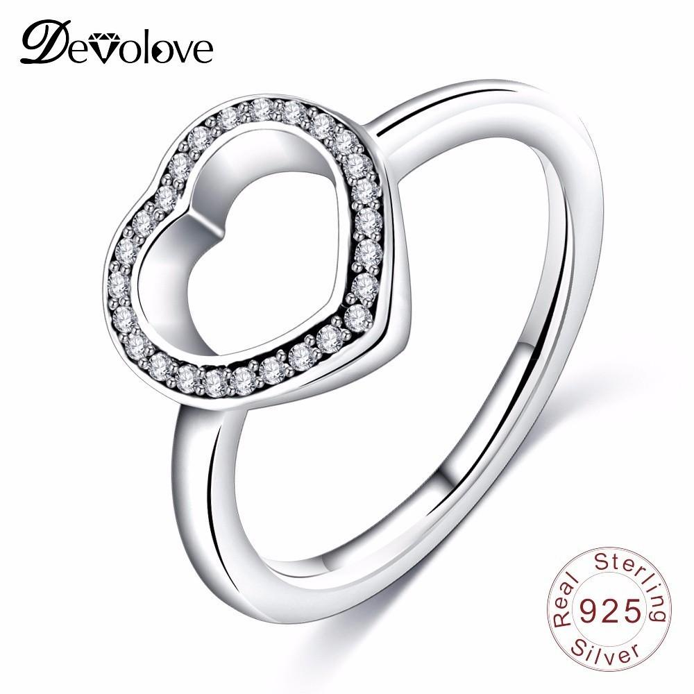 2019 Devolove Valentine S Day Gift Rings 925 Sterling Silver Heart