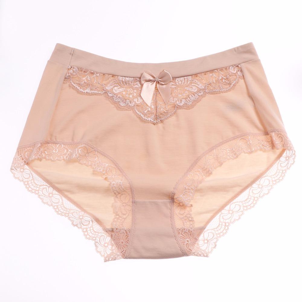 3XL 4XL 5XL Underwear Women Cotton Panties Plus size Briefs Underpants Female Lace Bow high quality Knickers