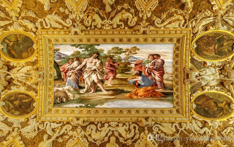 Murales del techo 3d Ángel esclavo pared papeles decoración del hogar wallpaper 3d murales estereoscópicos del techo