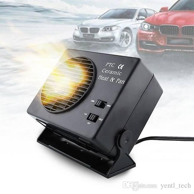 free shipping 300w DC 12v Switch Ceramic Car Fan Heater Heating Warmer Defroster Demister Vehicles Portable Ceramic Heating Cooling Dryer