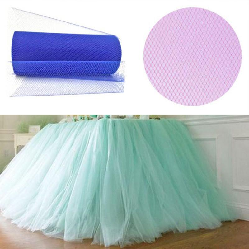 Organza Tulle Roll 15cm 25Yards Roll Fabric Spool Tutu Party Birthday Gift Wrap Wedding Decoration Party Favors Event Supplies