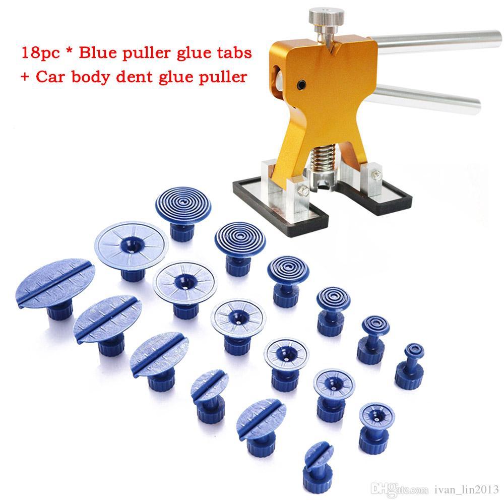 Kit de herramientas Juego de herramientas de mano profesional Juego de herramientas de reparación de abolladuras sin pintura para automóviles de alta calidad Gold Dent Puller Pestañas de pegamento Herramientas de reparación de daños por granizo