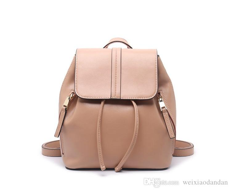 a2abe6e62deb Women S Double Shoulder Bag Of 2018 Fashion Casual Simple Travel Bag New  Type Of Leather Bag. Girls Backpacks Drawstring Backpack From  Weixiaodandan