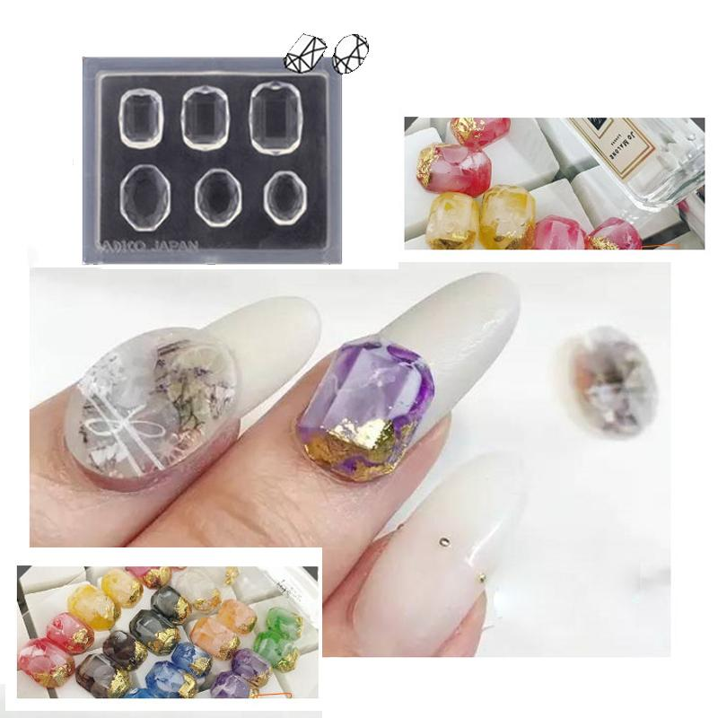 3d Acrylic Nail Art Template Carved Mold Set 8 Designs Gemstone ...