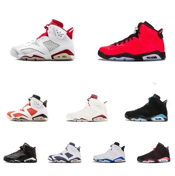 5e55ed15574bbf 6 Carmine Basketball Shoes Classic 6s UNC Black Blue White Infrared ...