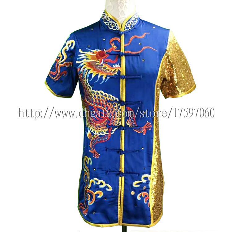 Cinese uniforme Wushu Kungfu vestiti taolu vestito Arti marziali tuta concorrenza kimono Routine indumento uomo donna ragazzo ragazza bambini adulti