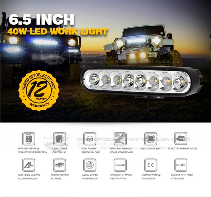 40w offroad led light bar combo beam for car atv suv boat yacht 40w offroad led light bar combo beam for car atv suv boat yacht motorcycle bumper lamp 4wd awd truck 12v 24v drive style motion sensor flood light aloadofball Gallery