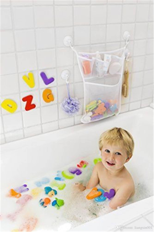 2018 Baby Bath Toy Organizer Hanging Mesh Net Storage Baby Bath Toy ...