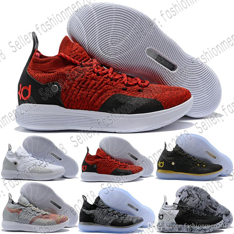 ebfcfd875906 ... hot 2018 with box kd 11 ep elite basketball shoes kd 11s men multicolor  peach jam
