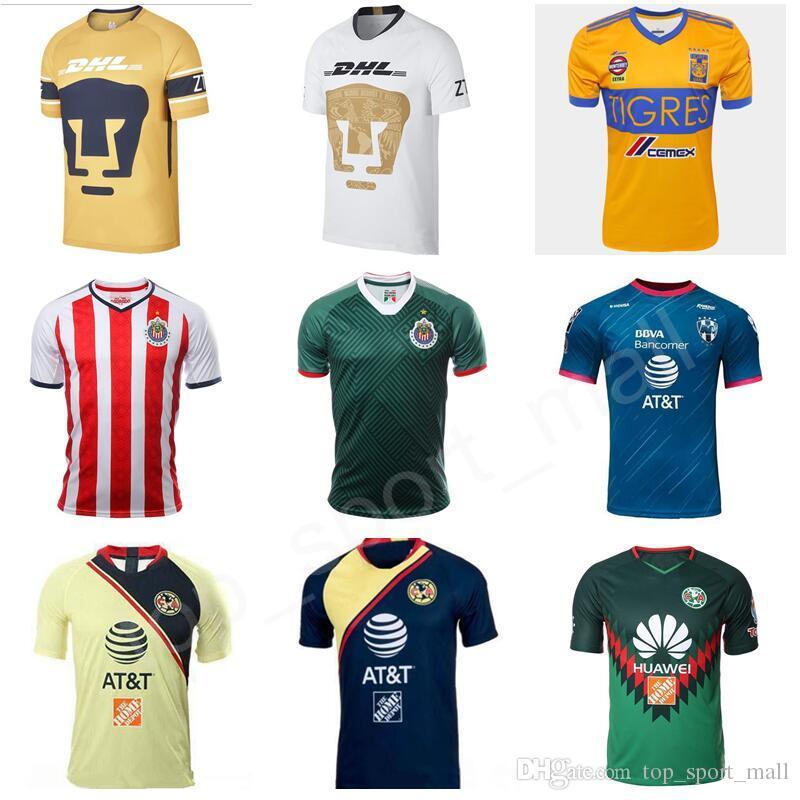 innovative design ddf6c 7dde2 Mexican League Jersey Soccer Club LIGA MX CF Chivas Guadalajara America  UNAM Rayados Monterrey Tigres UANL Football Kits Shirt Custom Name