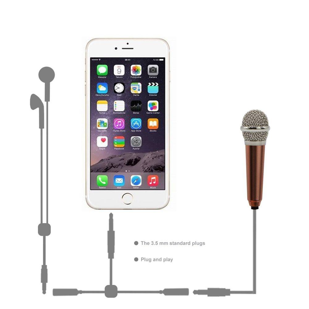 Mini 3,5-mm-Handheld-Karaoke-KTV-Handy-Mikrofon Wired Small Recorder-Mikrofon für Handy-Computer Sing Soft