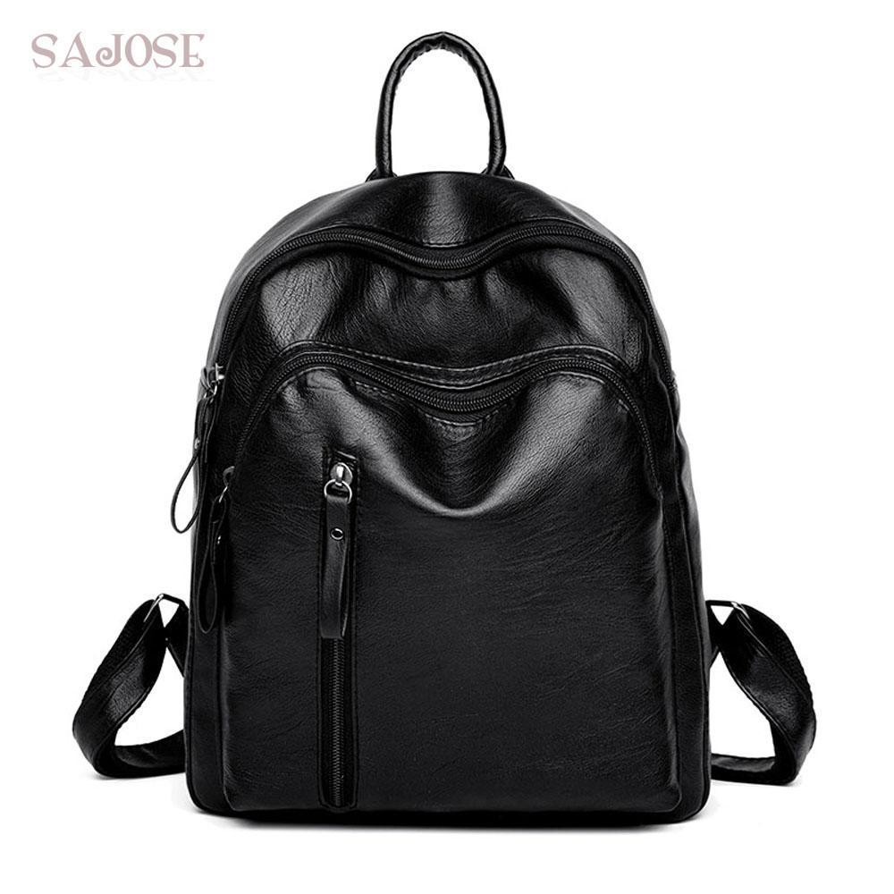 216c878860 Fashion Backpack Women School Bags For Teenager Black Small Backpacks High  Quality Girls Spring PU Leather Shoulder Back Pack Small Backpack Backpack  Brands ...