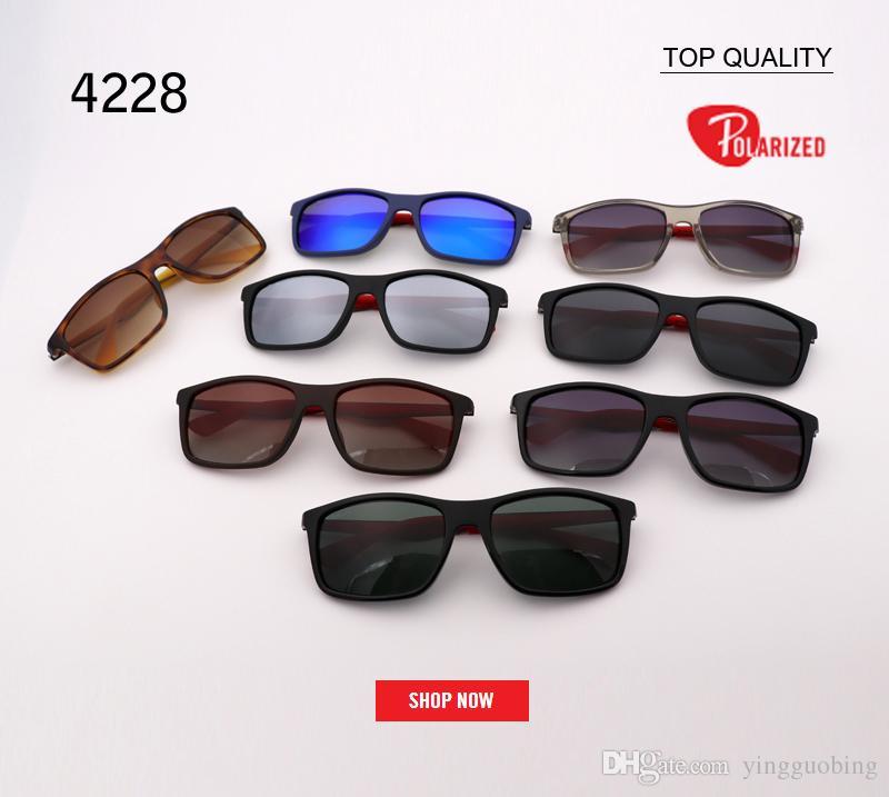 1a938f1898 new designer Men's woMens flash mirror Sunglasses gradient Sun Glasses  Square Goggle polarized sunglass Female gafas 4228 sunglass