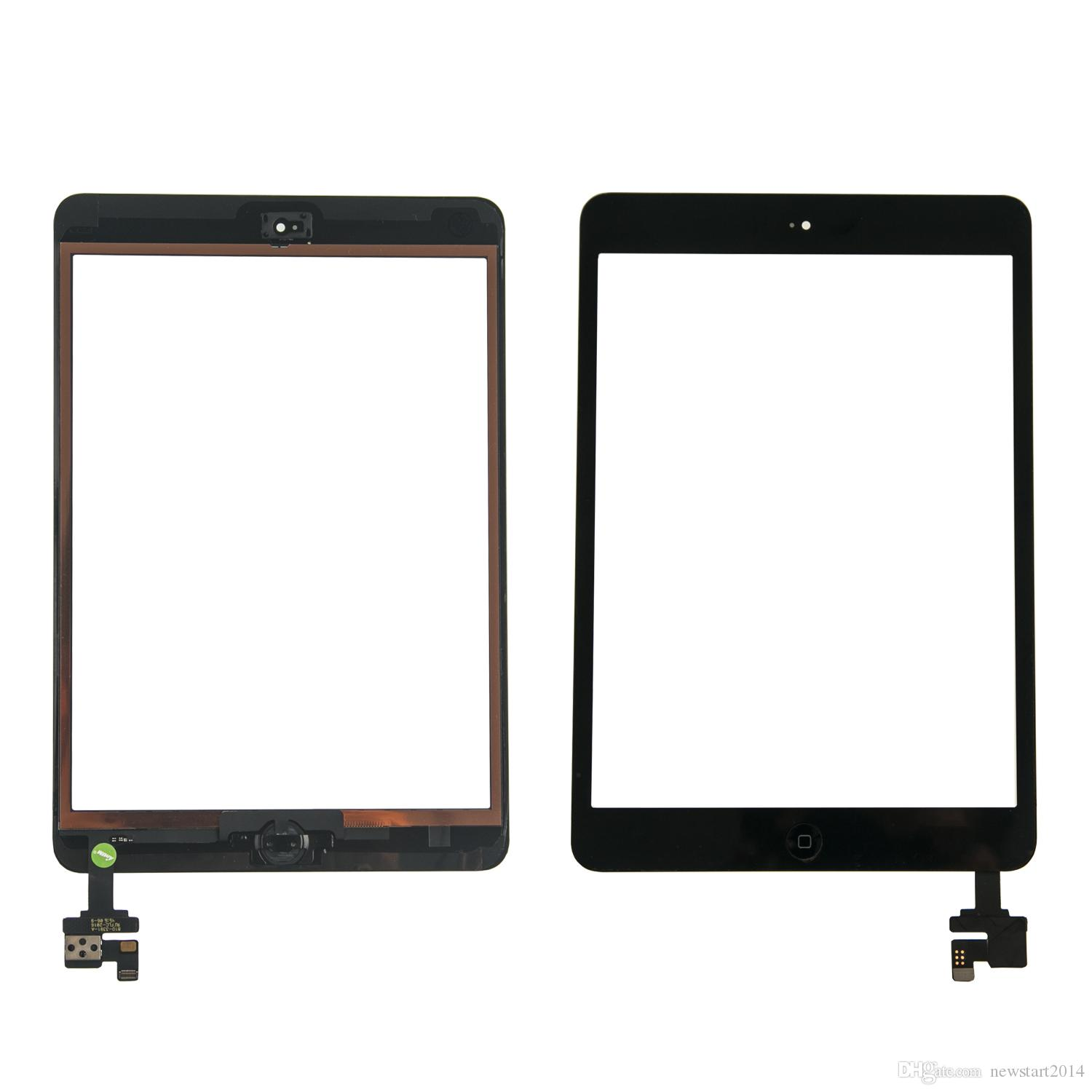 Spedizione gratuita per dhl o ems 100% completata per iPad mini 1 mini 2 Touch Screen Digitizer con cavo Flex Home Button IC