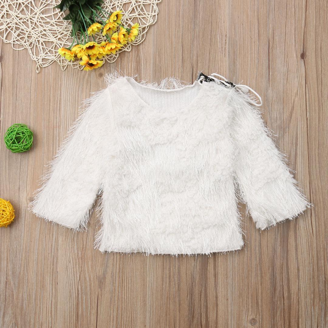 Autumn Newborn Girl Baby Kid Clothing Warm Sweater Knit Shirt Long ...
