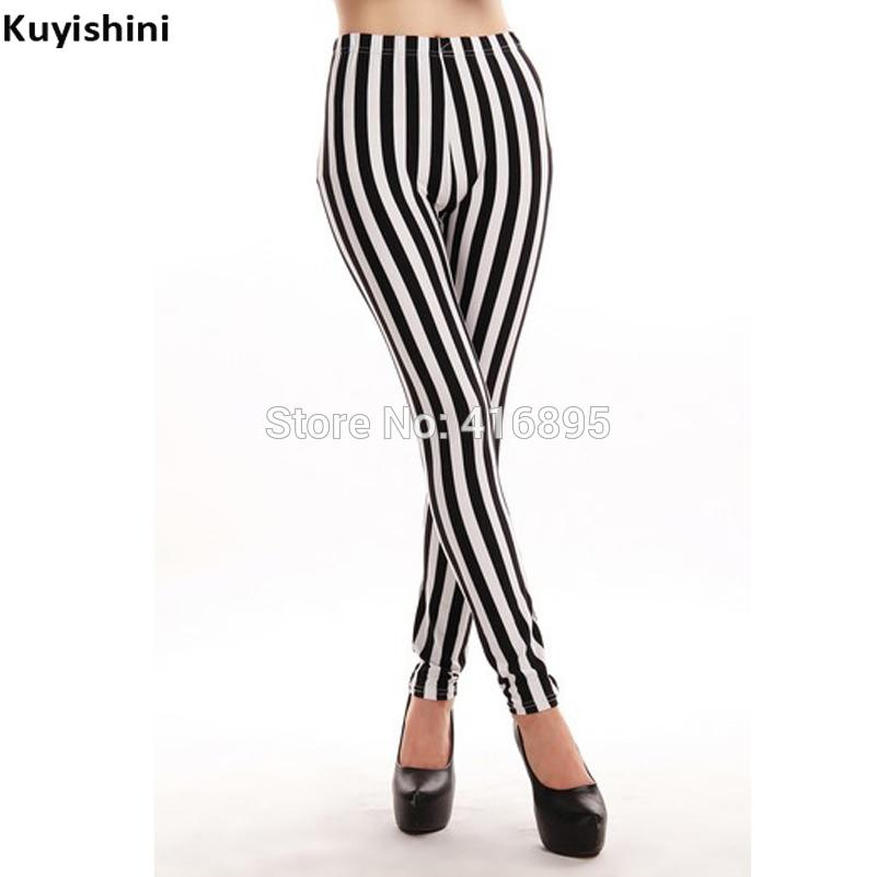 58c388261b621 2019 Plus Size Xl 2xl 3xl 4xl Women Black White Stripes Leggings Milk  Leggings Galaxy Schoolgirl From Jst2015, $38.4   DHgate.Com