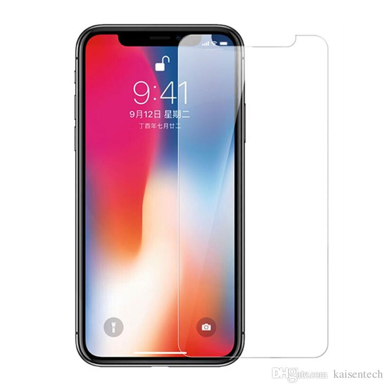newest b80e8 5d437 High Quality XS Max Tempered Glass Screen Protector For iPhone Xs Max Glass  Screen Protective film glass on iphoneXs 5.8 6.5 inch Wholesale
