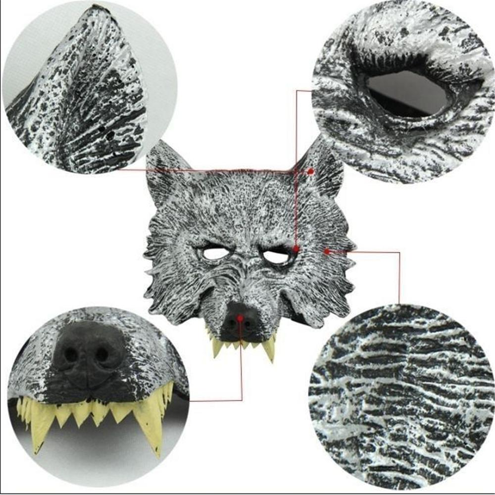 Latex Animal Pig Wolf Horse Full Face Head Mask Party Halloween Fancy Dress Costume Cosplay Gift CS0646
