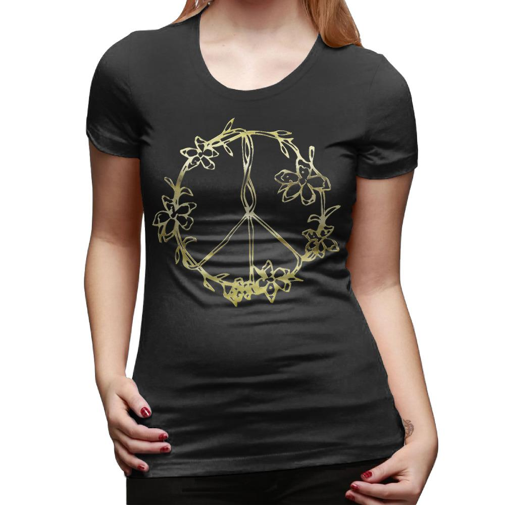 Women S Tee Flowers Peace Sign Yin Yang Flower Tattoos And Hippie T
