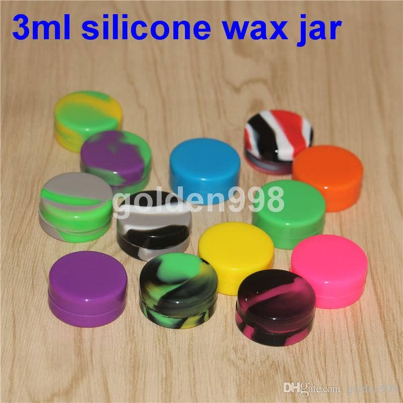 !Clear small round silicone rubber container Silicone Nonstick Container for Concentrate non stick wax tub 3ml