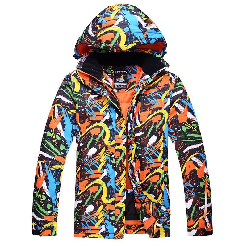 c4e27001af 2019 Ski Jackets Men Graffiti Color Waterproof Windproof Warm Winter  Snowboard Jackets Outdoor Snow Skiing Clothes From Capsicum