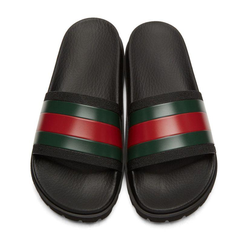 bad23b943479 Hot Designer Sandals Signature Slide Luxury Fashion Mens Causal Non ...