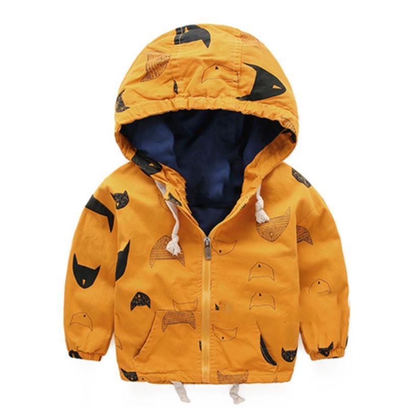 2016 Printemps Automne Garçons Veste Outwear Coton Enfants Enfants Adolescents Manteau Enfant De Mode Fermeture À Glissière À Capuche Vêtements KU1016
