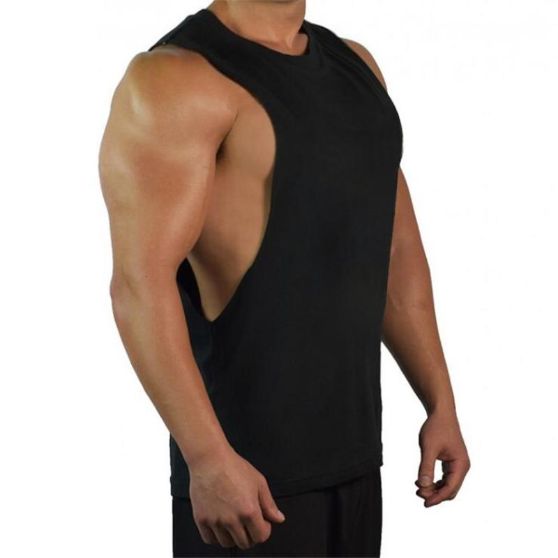 ad1871fbfb8c74 New Blank Sleeveless Shirt Muscle Cut Workout T-Shirt Bodybuilding Tank Top  Man Fitness Clothing Cotton Open Sides Vest Tank Tops Cheap Tank Tops New  Blank ...