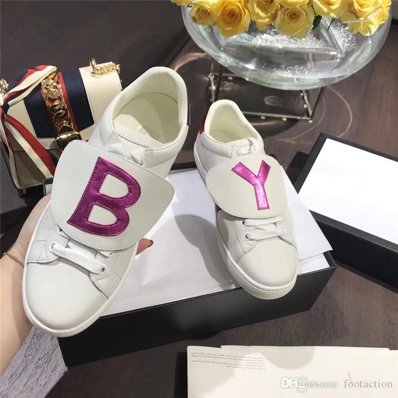 5e61dc20b2e67 2018 Designer Shoes ACE Luxury Embroidered White Tiger Bee Fish Shoes  Genuine Leather Designer Sneaker Mens Women Casual Shoes Loveres Casual  Shoes Dress ...