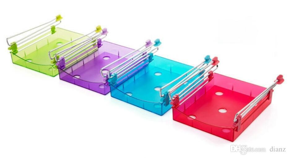 For BIG buyer Kitchen Fridge Sliding Drawer Space Saver Organizer Refrigerator Storage Rack Shelf Holder Drawer