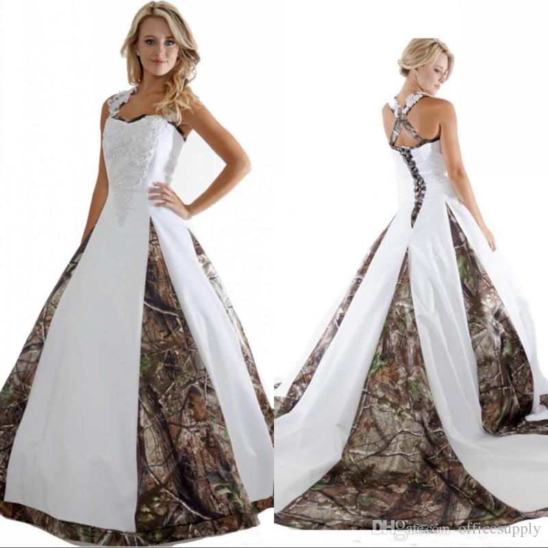 Camouflage Wedding Dresses.2019 New Arrival Camo Wedding Dresses With Appliques Ball Gown Long Camouflage Wedding Party Dress Bridal Gowns
