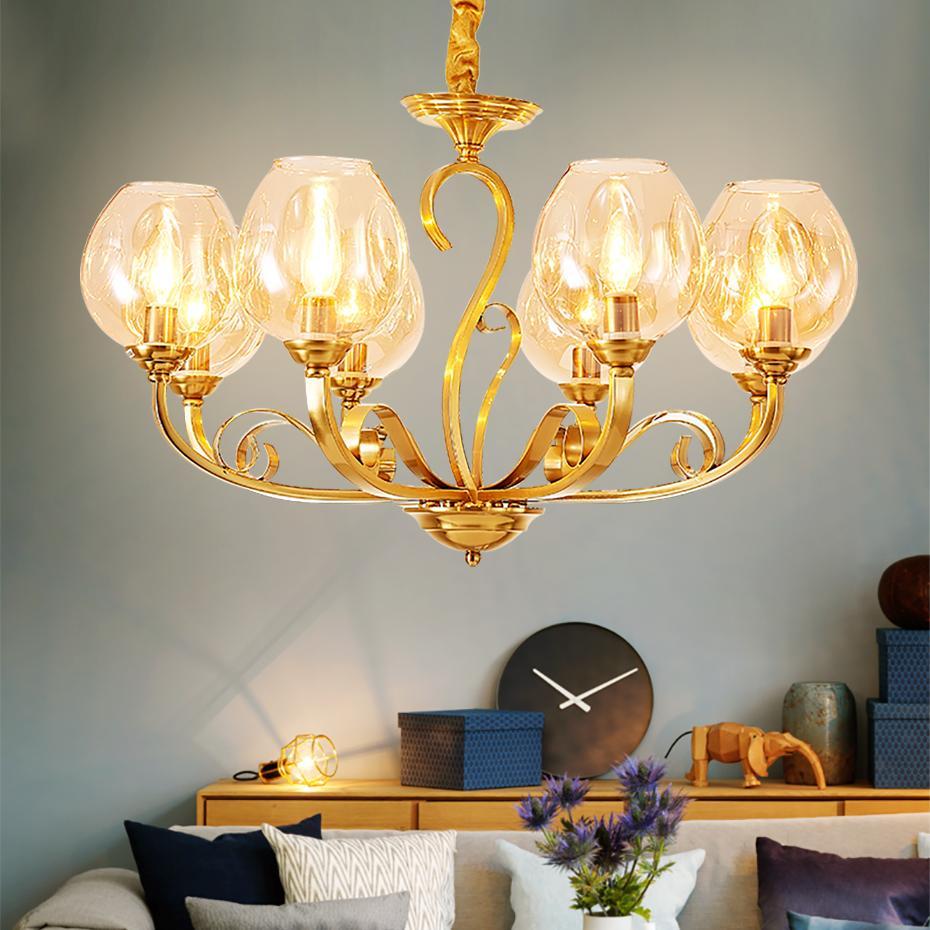 Compre Modernos Lustres De Ouro Teto Para Sala De Estar Sala De