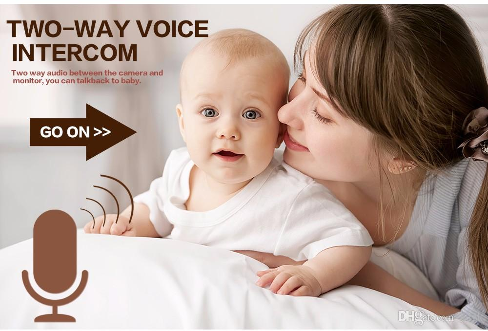 Wireless Infant Radio Baby Care Babysitter Digital Video Camera Baby Sleeping Monitor Audio Night Vision Temperature Display