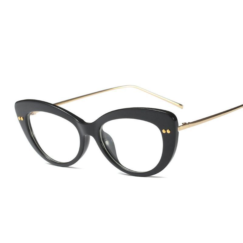 Compre MINCL   2018 Moda Feminina Óculos De Armação Homens Óculos De Armação  Rodada Do Vintage Lente Clara Óculos De Gato Feminino Óculos FML De Buete,  ... 7e2cd61201