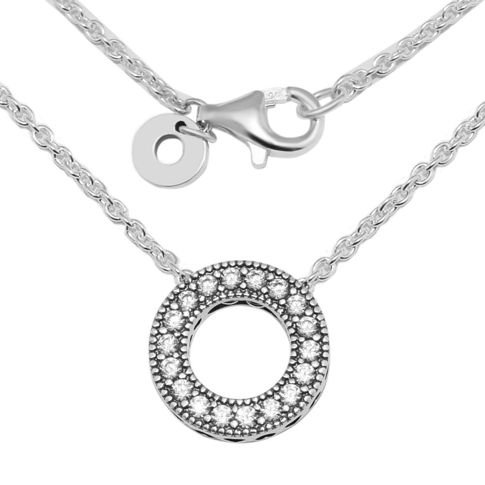 d5480cafbb2 2019 Signature Spinning Pendant Necklace 925 Sterling Silver Clear CZ Round  Necklaces & Pendants Jewelry Making Women Accessories From Frenky, ...
