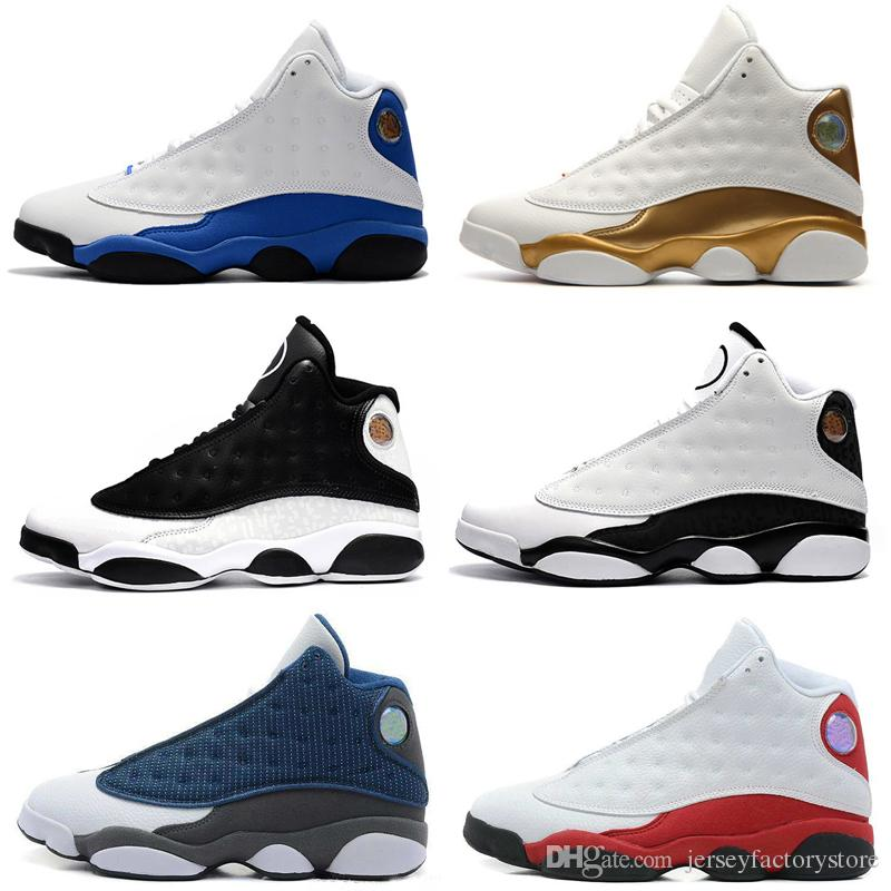 2018 Top Quality 13 13s Mens Basketball Shoes Wolf Grey Black Cat Bred  Brown Sneakers Women Sports Trainers Running Shoes For Men Designer Womens  Basketball ... f4e6230492
