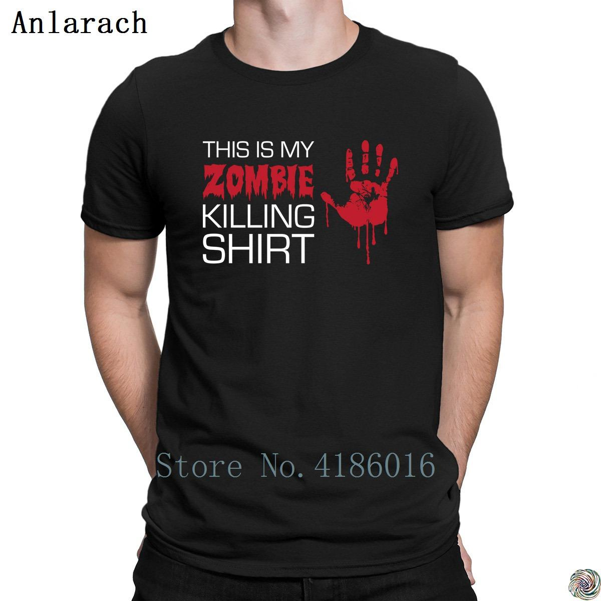 My Zombie Killing tshirt slim Top Quality clothing summer men's tshirt Authentic fitted O Neck printed